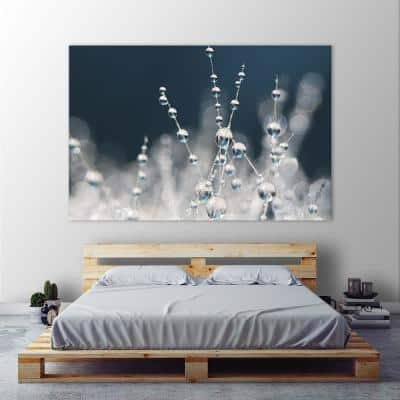 """54 in. x 84 in. """"Snow White Ice Blue"""" by Sharon Johnstone Wall Art"""