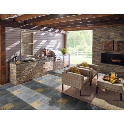 Rustique Earth 12 in. x 12 in. Gauged Slate Floor and Wall Tile (10 sq. ft./Case)