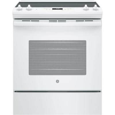 30 in. 5.3 cu. ft. Slide-In Electric Range with Self-Cleaning Oven in White