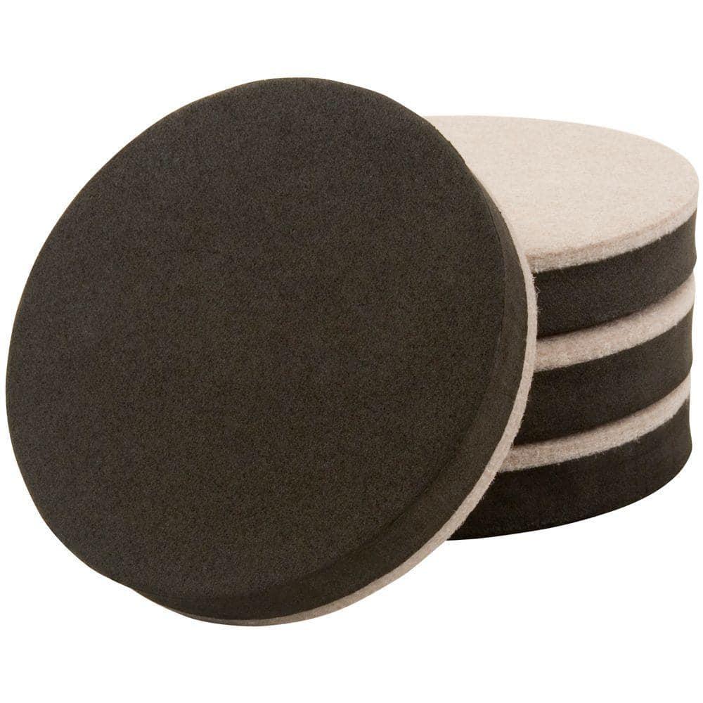 Everbilt 3-1/2 in. Felt Bottom Round Adhesive Slider (4 per Pack)