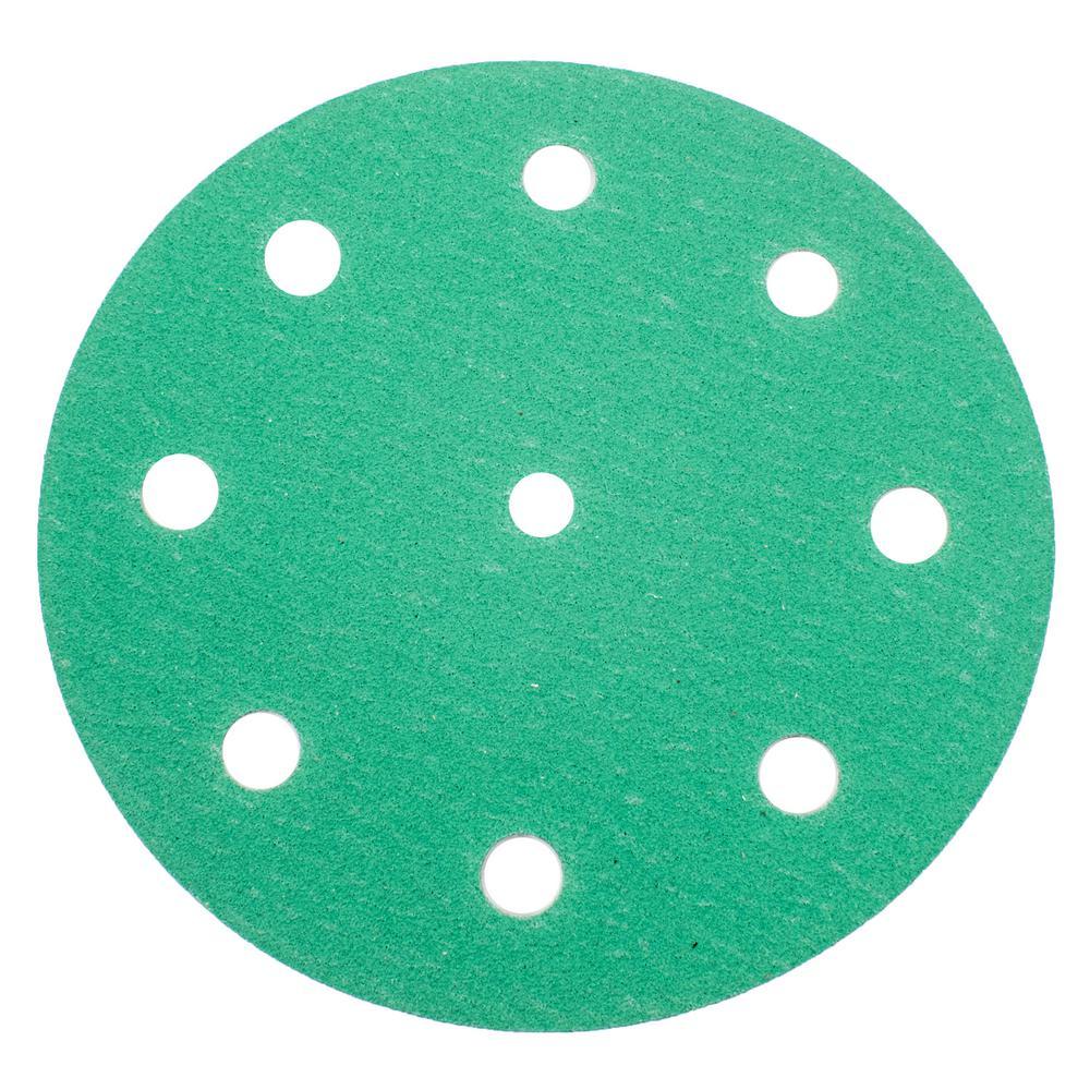 Green 5 in. 120 Grit Sanding Disc Medium (25-Pack)