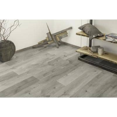 Castle Gray Oak 1/3 in. Thick x 6.26 in. wide x 50.79 in Length Engineered Hardwood Flooring (17.66 sq. ft./case)