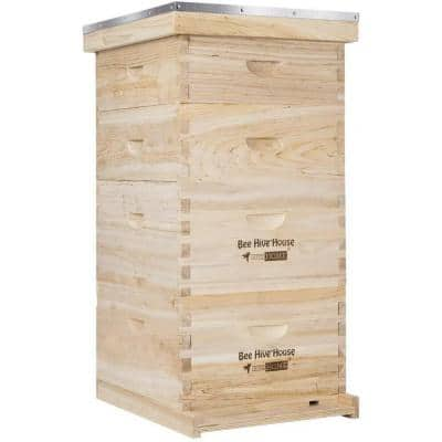 Wooden 4-Layers Langstroth Bee Hive Box with Metal Roof