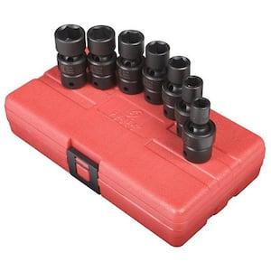3/8 in. Drive Standard Fractional Universal Impact Socket Set (7-Piece)