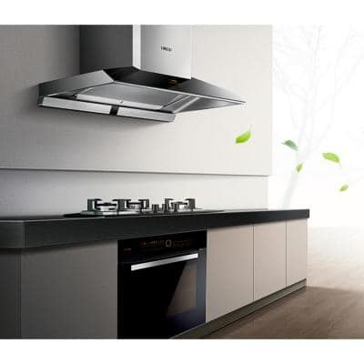 Perimeter Vent Series 36 in. 1100 CFM European Style Vent Wall Mount Range Hood with Touchscreen in Stainless Steel