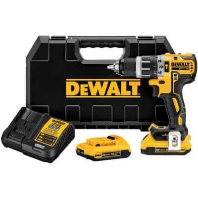 20-Volt MAX XR with Tool Connect Cordless Brushless 1/2 in. Hammer Drill/Driver with (2) 20-Volt 2.0Ah Batteries