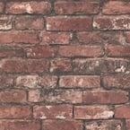 Debs Red Exposed Brick Red Wallpaper Sample