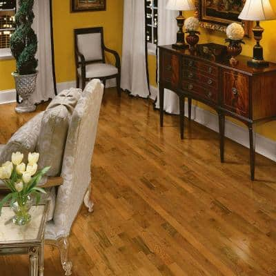 Plano Oak Gunstock 3/4 in. Thick x 3-1/4 in. Wide x Varying Length Solid Hardwood Flooring (22 sq. ft. / case)