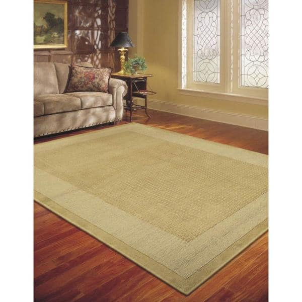 Nourison Simply Elegant Sand 5 Ft X 8 Ft Solid Contemporary Area Rug 723482 The Home Depot