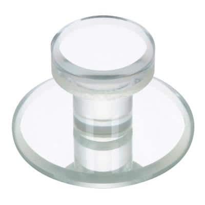 1-7/8 in. (47 mm) Transparent/Clear, Mirror Effect Contemporary Acrylic Cabinet Knob