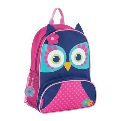 Sidekick Kids Backpack School Bag Blue Owl with Adjustable Straps
