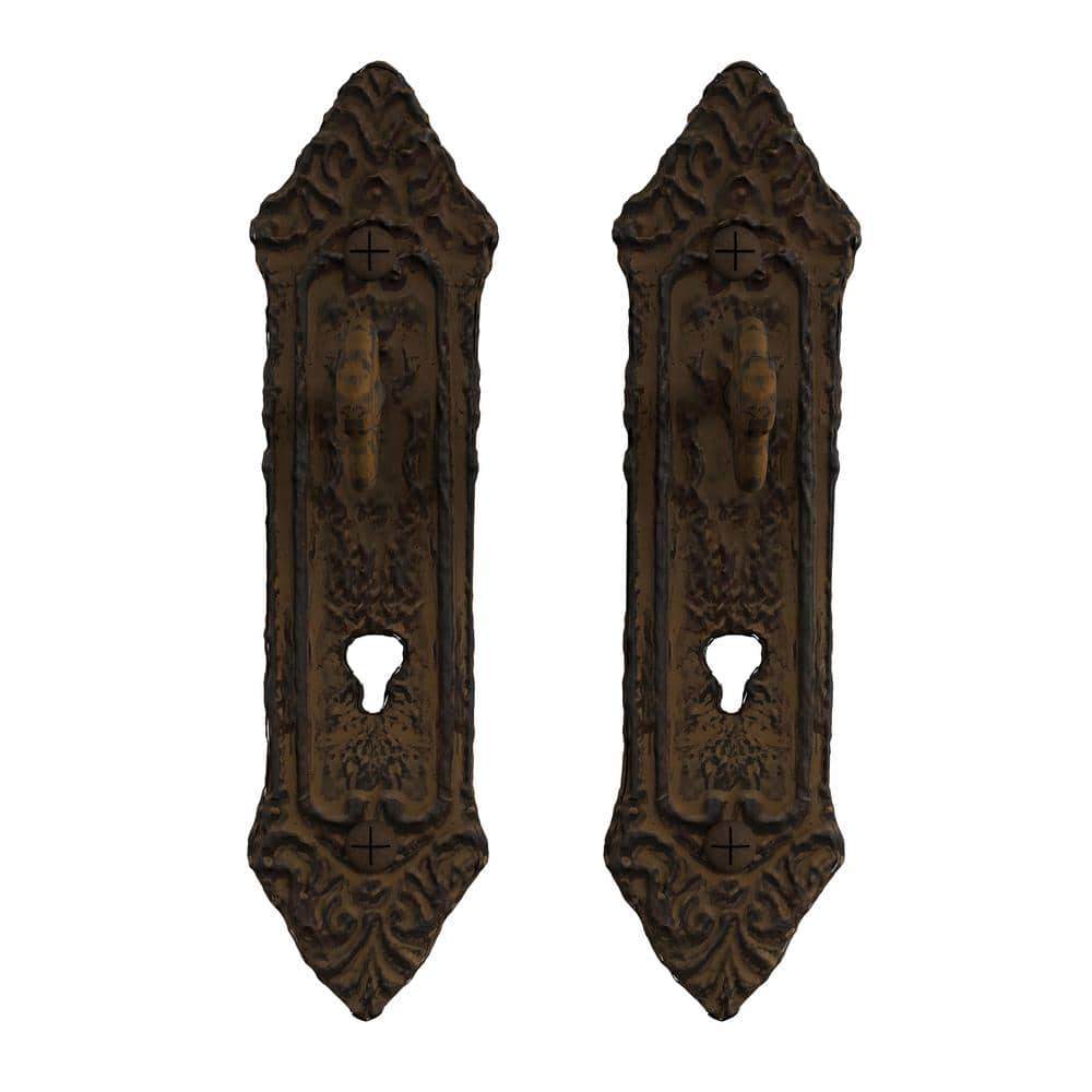 Lavish Home Cast Iron Rustic Decorative Key In Lock Wall Mount Hooks 2 Pack In Brown Hw0200025 The Home Depot