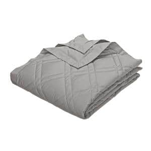 Classic Down Platinum Cotton Twin Quilted Blanket