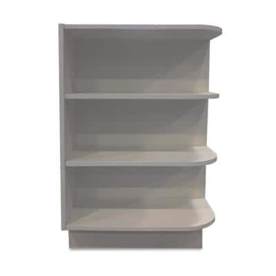 Grey Plywood Shaker Stock Ready to Assemble Base End Shelf Kitchen Cabinet 12 in. W x 34.5 in. H x 24 in. D