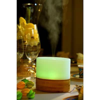 100mL Ultrasonic Aroma Diffuser/Humidifier with Bamboo Base