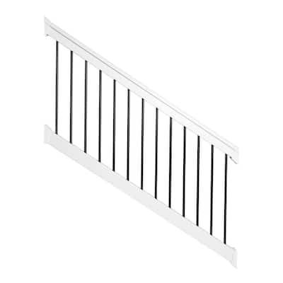Bellaire 3.5 ft. H x 96 in. W White Vinyl Stair Railing Kit