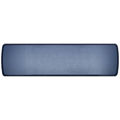 Elite Quill Atlantic Blue 20 in. x 72 in. Comfort Kitchen Mat