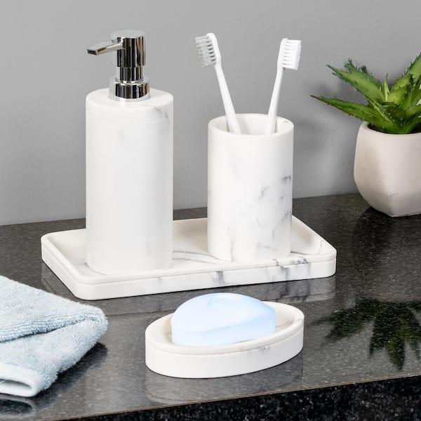 Honey Can Do 4 Piece Bathroom, Bathroom Toothbrush Holder Set