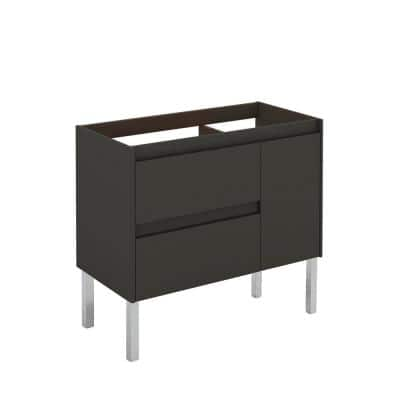 Ambra 90F 35.1 in. W x 17.6 in. D x 32.4 in. H Bath Vanity Cabinet Only in Anthracite