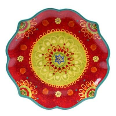 The Tunisian Sunset Collection Scalloped Platter