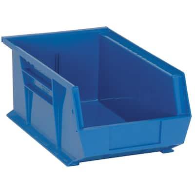 7.5 Gal. Ultra-Series Stack and Hang Storage Bin, Blue (12-Pack)