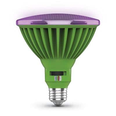 30-Watt PAR38 Selectable Spectrum for Seeding, Growing and Blooming Indoor and Greenhouse E26 Plant Grow LED Light Bulb