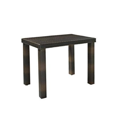 Palm Harbor Wicker Bar Height Outdoor Dining Table