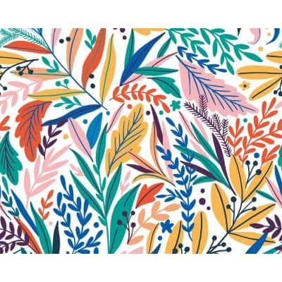 Tropical Patterned Leaves Wall Mural
