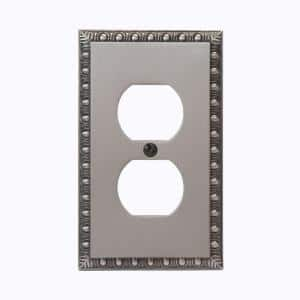 Antiquity 1 Gang Duplex Metal Wall Plate - Antique Nickel
