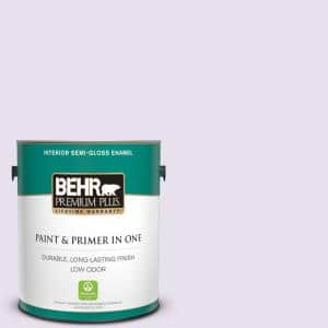 Behr Premium Plus 1 Gal 660c 1 Bubble Bath Semi Gloss Enamel Low Odor Interior Paint And Primer In One 305001 The Home Depot