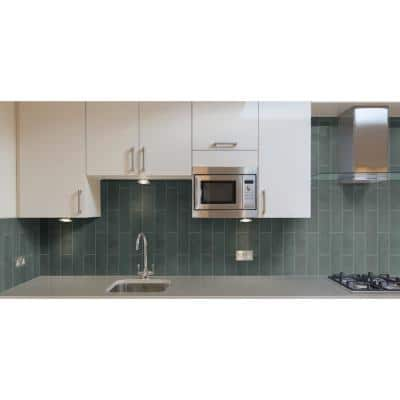 Montauk Blue 4 in. x 12 in. Gauged Slate Floor and Blue Subway Tile (5 sq. ft./Case)