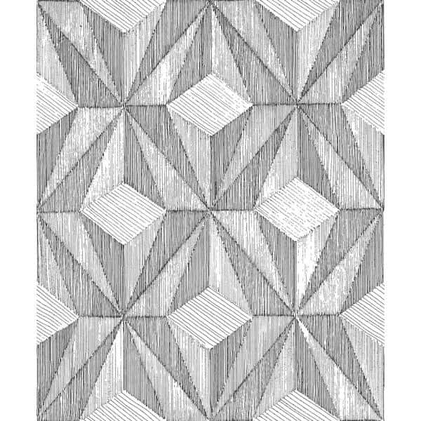 A Street Prints Paragon Black Geometric Paper Strippable Wallpaper Covers 57 8 Sq Ft 2908 87101 The Home Depot