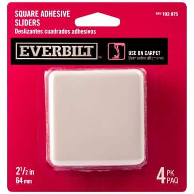 2-1/2 in. Square Adhesive Slider (4-Pack)