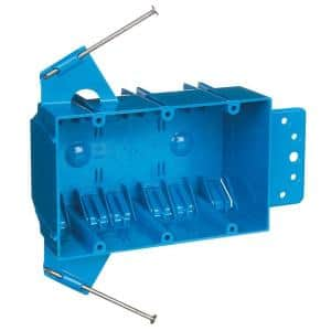 3-Gang 44 cu. in. New Work PVC Electrical Outlet Box