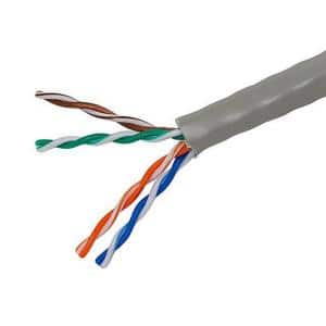Electronic Master Category 5 1000 Ft Gray 24 4 Unshielded Twist Pair Cable Cat5211000g The Home Depot