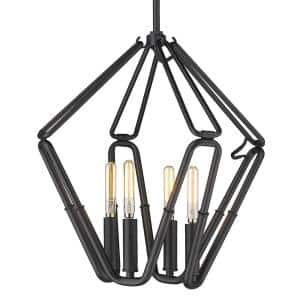 Corbin 4-Light Natural Black Lantern Pendant