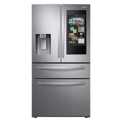27.7 cu. ft. Family Hub 4-Door French Door Smart Refrigerator in Fingerprint Resistant Stainless Steel