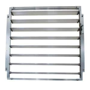 Side Louver Window 2 ft. W x 0.2 ft. D x 2 ft. L Silver for Palram Greenhouses