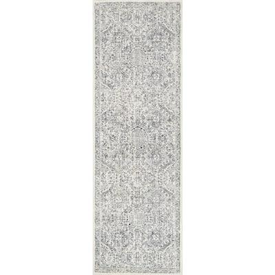 Minta Modern Persian Gray 3 ft. x 10 ft. Runner