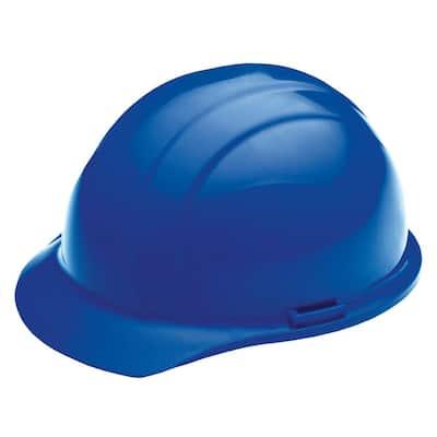 4 Point Nylon Suspension Mega Ratchet Cap Hard Hat in Blue