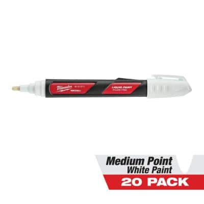 INKZALL White Paint Marker (20-Pack)