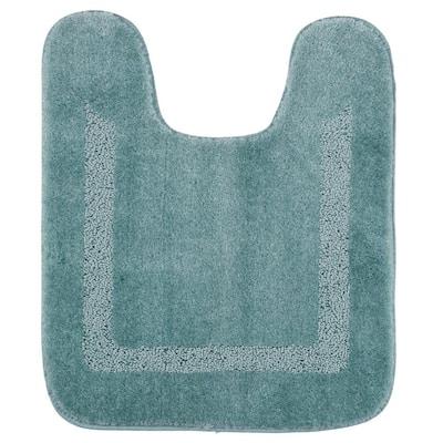 Facet Aqua 20 in. x 24 in. Nylon Machine Washable Bath Mat