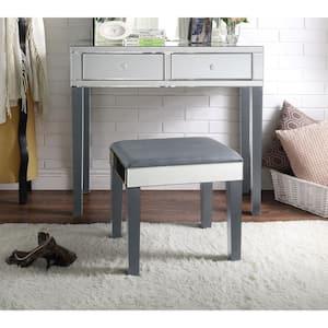 Primrose Grey Vanity Tables with Mirrored 2-Drawer