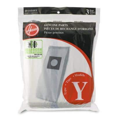 Type Y Allergen Filtration Bags (3-Pack)
