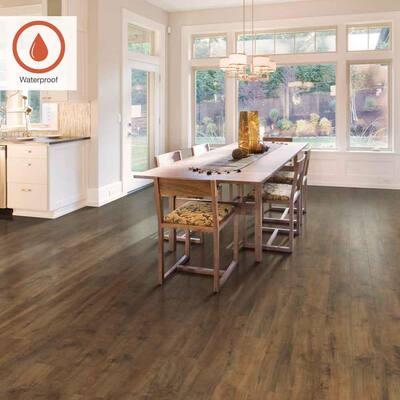 Outlast+ 6.14 in. W Harvest Cherry Waterproof Laminate Wood Flooring (16.12 sq. ft./case)