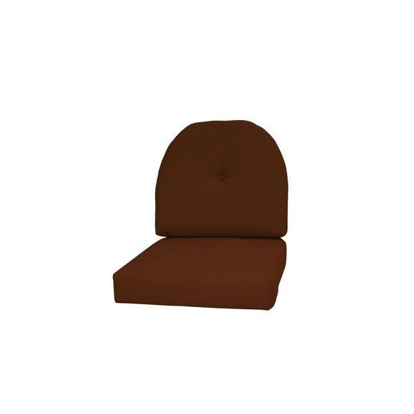 Indoor  Outdoor 2 Matching Wicker Chair Cushions Sunbrella Astoria Sunset 2 Piece Wicker Chair Cushion Set Choose Size