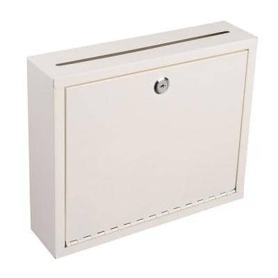 Large Size White Steel Multi-Purpose Drop Box