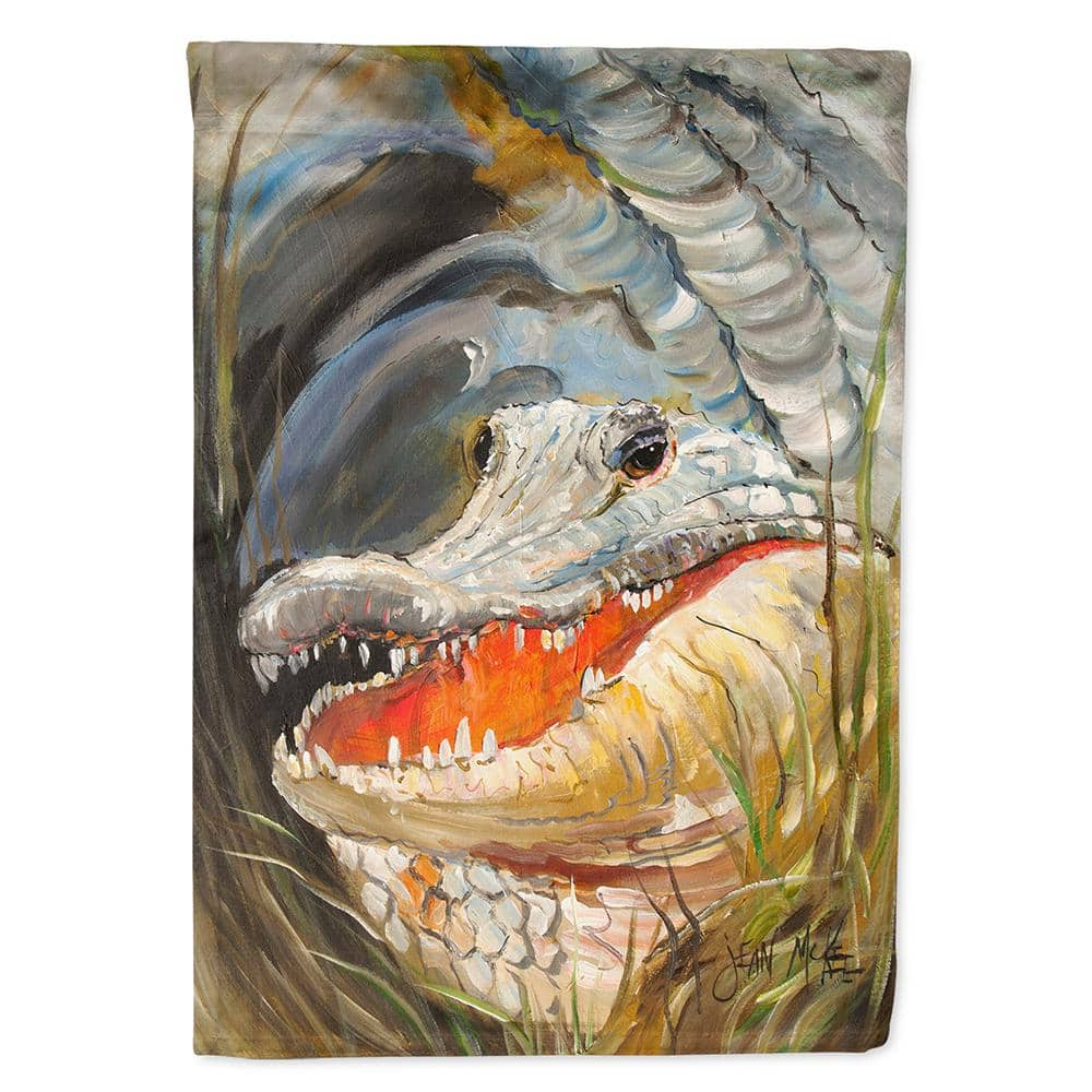 Caroline S Treasures 28 In X 40 In Polyester Alligator Flag Canvas House Size 2 Sided Heavyweight Jmk1138chf The Home Depot