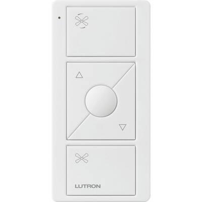 Pico Remote for Caseta Wireless Smart Fan Speed Control, White