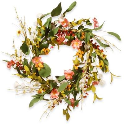 22 in. Flower Wreath